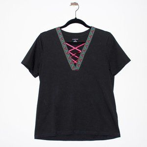 Lands' End Size Small Black T-Shirt